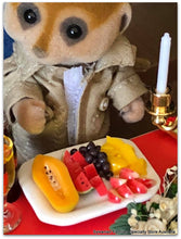 Sylvanian Families Meerkat fruit platter watermelon apple etc