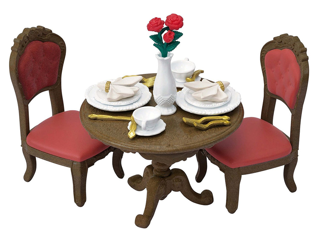 Sylvanian Families Elegant Romantic dining table and chairs