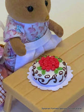 Cake Miniature roses Dollshouse 1:12 suits Sylvanian Families