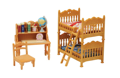 Sylvanian Families Children's Bedroom Bunks set