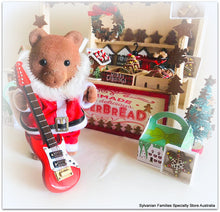 Sylvanian FAmlies Santa bear music guitar Christmas busking