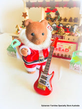 Sylvanian FAmilies bear santa with guitar