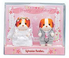 Sylvanian Families Baby Chiffon Dog Wedding Pair