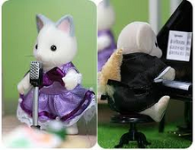 Sylvanian Families Ballroom Set with Grace & Kelly Silk Cat