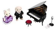 Great Music lovers gift ideas - Miniature Sylvanian Grand piano set