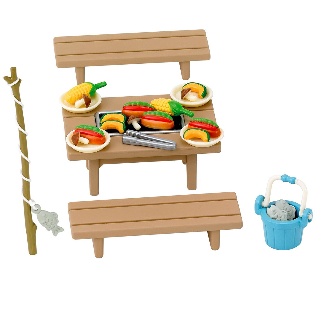 Sylvanian Families Barbecue Set with Fishing rod