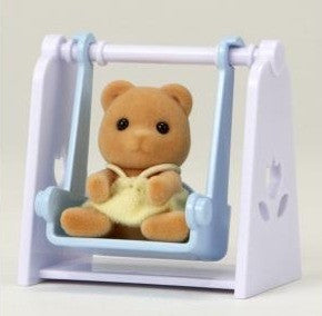 Sylvanian Families Baby Bear on Swing