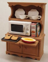 Sylvanian Families Welsh Dresser with Microwave furniture