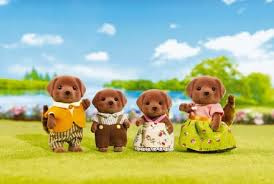 Sylvanian Families Chocolate Lab Family Calico Critters