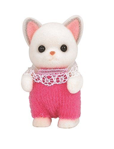 Sylvanian Families Chihuahua baby girl in pink romper suit