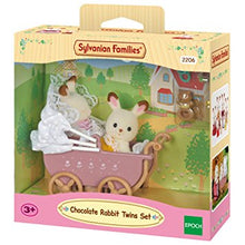 Sylvanian Families Baby Carriage and Chocolate Rabbit Twins set