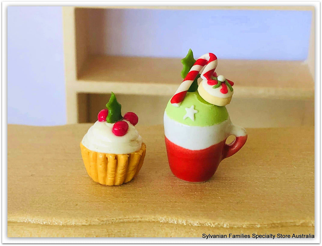 Dollshouse miniature Christmas scene items