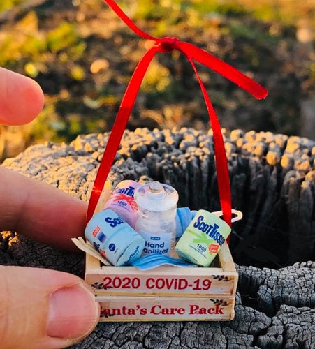COVID-19 Crate - Christmas Tree decor 3.5 cm x 3 cm