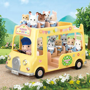 sylvanian Forest Nursery Double Decker bus