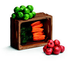 Schleich Crate of Vegetables Set 2