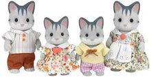 Sylvanian Families Gray Striped Cat Family