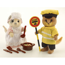 Sylvanian Families School Dinner Lady & Lollipop Man Renard Fox