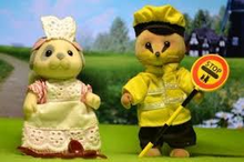 Sylvanian Families School Dinner Lady & Lollipop Man - NEW in!