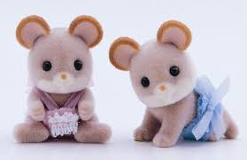 Sylvanian Families Maces Mouse Twins