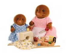 Sylvanian Families Clearwater vole sewing set Moles mother and daughter
