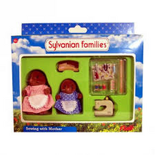 Sylvanian Families Mole Vole Sewing with Mother Available in Australia now