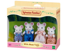 Sylvanian Families White Mouse Family - SF 4121 - Family of 4