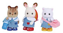 Sylvanian Families very cute school friends in uniform ready for the day at school