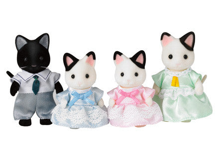 Sylvanian Families Tuxedo Cat Family on sale in store now