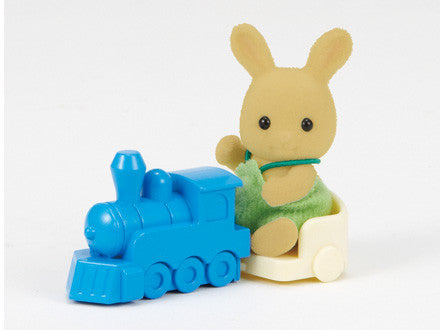 Sylvanian Families Ocher Rabbit baby on train - EUropean easy buy