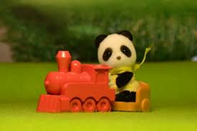 Sylvanian Families Panda & Train Carry Case set
