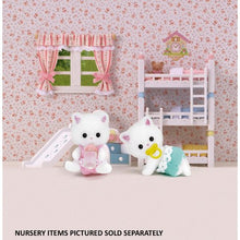 Sylvanian Persian cats playing in nursery very cute
