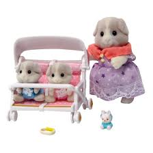 Guinea Pig Mother And Twins Set Sylvanian Families