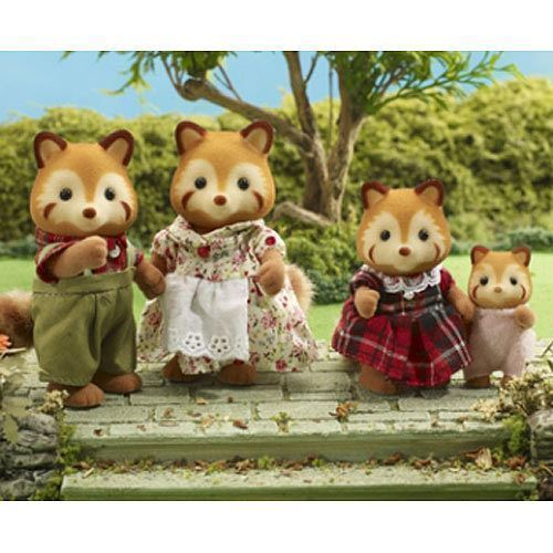 Sylvanian Families Red Panda Raccoon Family
