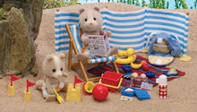 Sylvanian Farthing Dog Day at the seaside set