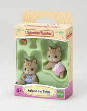 The Sylvanian Families Baby Striped Cat Twins Set