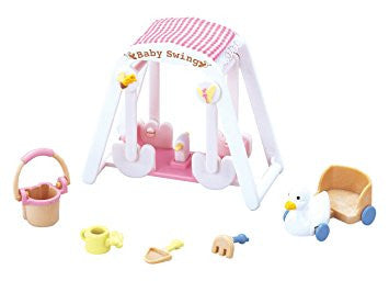 Sylvanian Families Double swing nursery fun