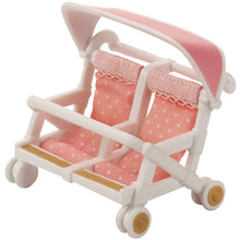 Sylvanian Families Double Pushchair with rotating wheels