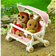 Sylvanian Families Double Pushchair for the Sylvanian Families twins