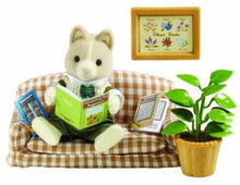 Sylvanian Tailbury dog Father on couch set at home