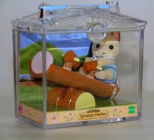 Sylvanian Families Cream Cat baby in carry case