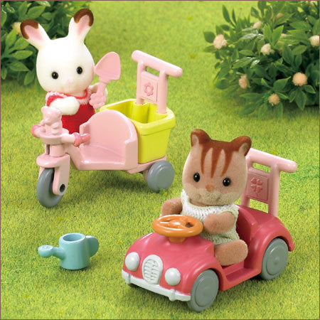 Sylvanian Families Tricyle and Toy Car set - JP