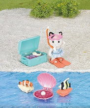 Sylvanian FAmilies Tuxedo Cat Girl Treasure swimming set SF 5230