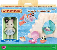 Sylvanian Families Seaside Treasure Set with Tuxedo Cat Girl