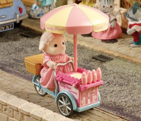 Sylvanian Families Dolly Sheep and Candy Floss Cart