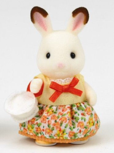 Sylvanian Families Yellow and Orange Girl's dress and shoes