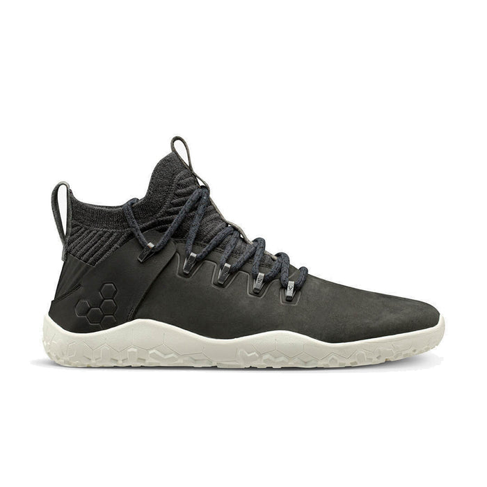 Vivobarefoot Magna Trail Leather & Wool Mens Obsidian - Genuine Vivobarefoot Shoes - ShoesVB