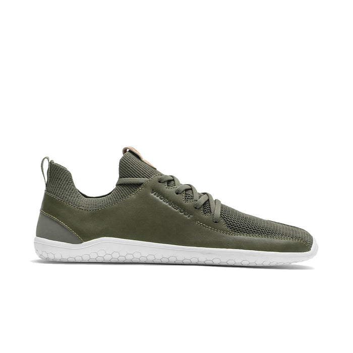 Vivobarefoot Primus Knit Womens Olive Green Leather - Genuine Vivobarefoot Shoes - ShoesVB