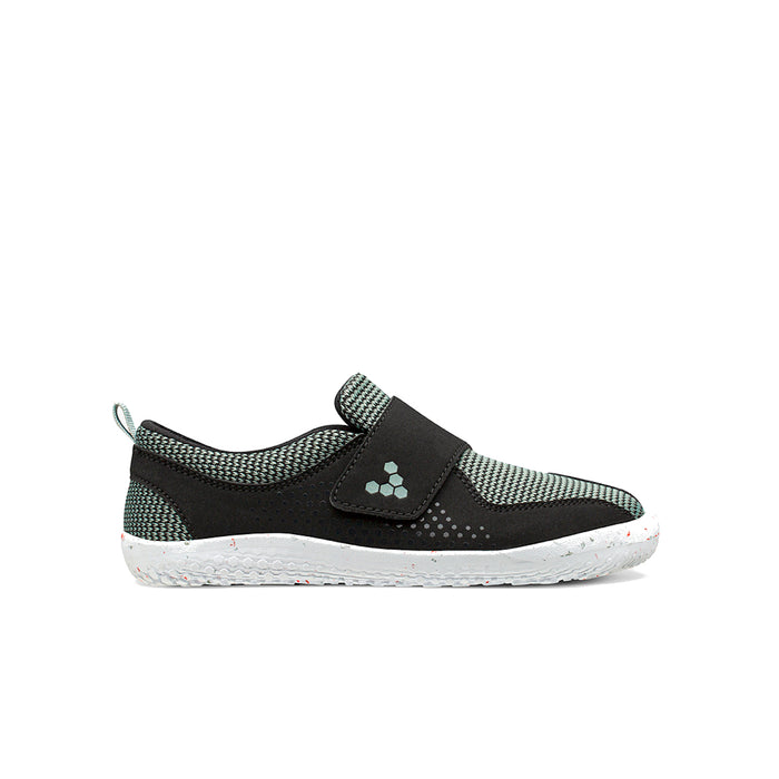 Vivobarefoot Primus Toddler Black Aqua Grey - Genuine Vivobarefoot Shoes - ShoesVB