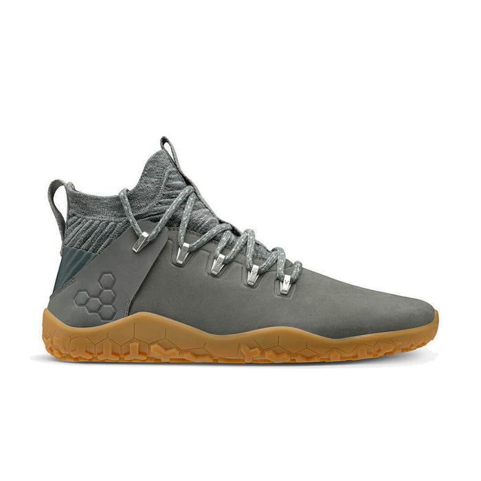 Vivobarefoot Magna Trail Leather & Wool Mens Graphite - Genuine Vivobarefoot Shoes - ShoesVB