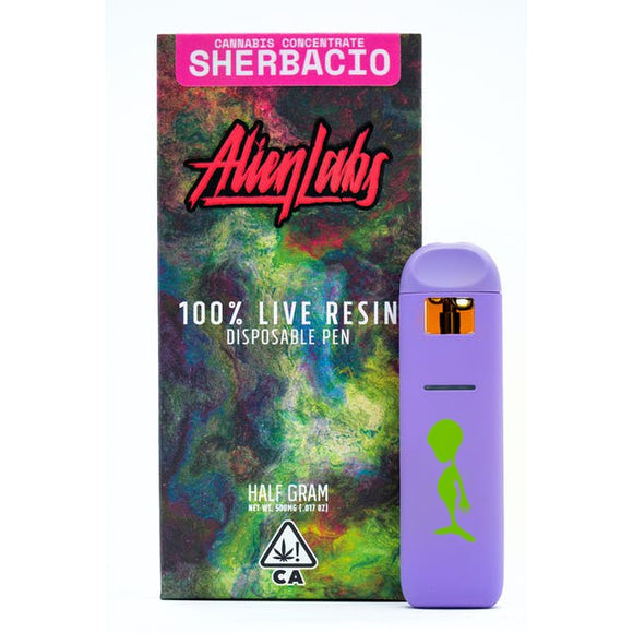 Sherbacio (I/h) - Alien Labs (0.5g) Live Resin Disposable